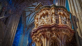 Marble pulpit at Worcester Cathedral
